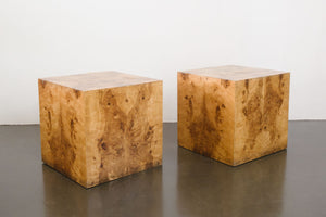 Burlwood Cube Side Tables