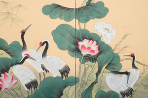 Hand Painted Folding Screen