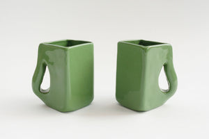 Studio Pottery Mug Pair