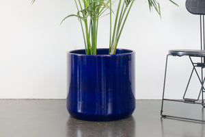 "18"" Pot / Planter - Cobalt Cylinder"