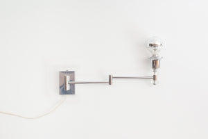 Lucite Swing Arm Sconce