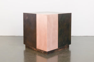Mod Copper Cube Side Table