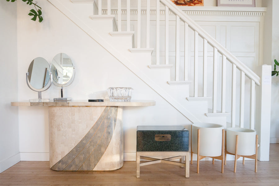 Tessellated Stone Console Table