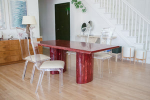 Red Quartz Dining Table