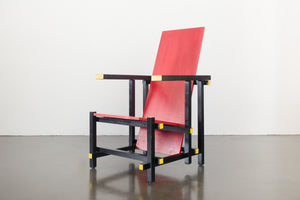 De Stijl Red and Blue Chair