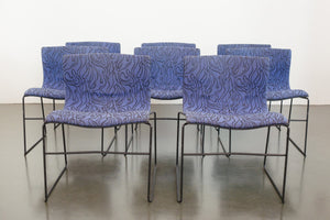 Set of 8 Vignelli Knoll Chairs