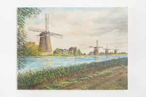 Dutch Windmill Painting