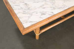 Bamboo and Marble Coffee Table