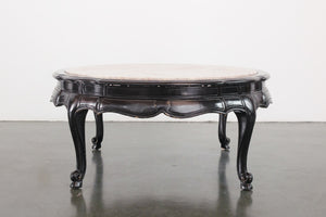 Marble & Lacquer Coffee Table