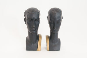 Deco Chalkware Bookends