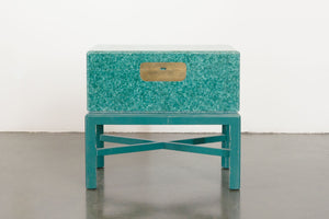 Campaign Trunk Side Table