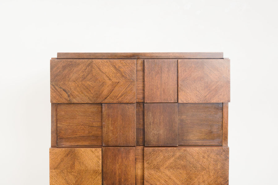Brutalist Highboy Dresser