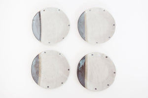 Set of 4 Glazed Plates