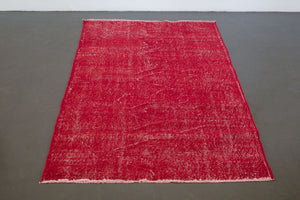 4x6.5 Turkish Overdyed Rug | KUZEY