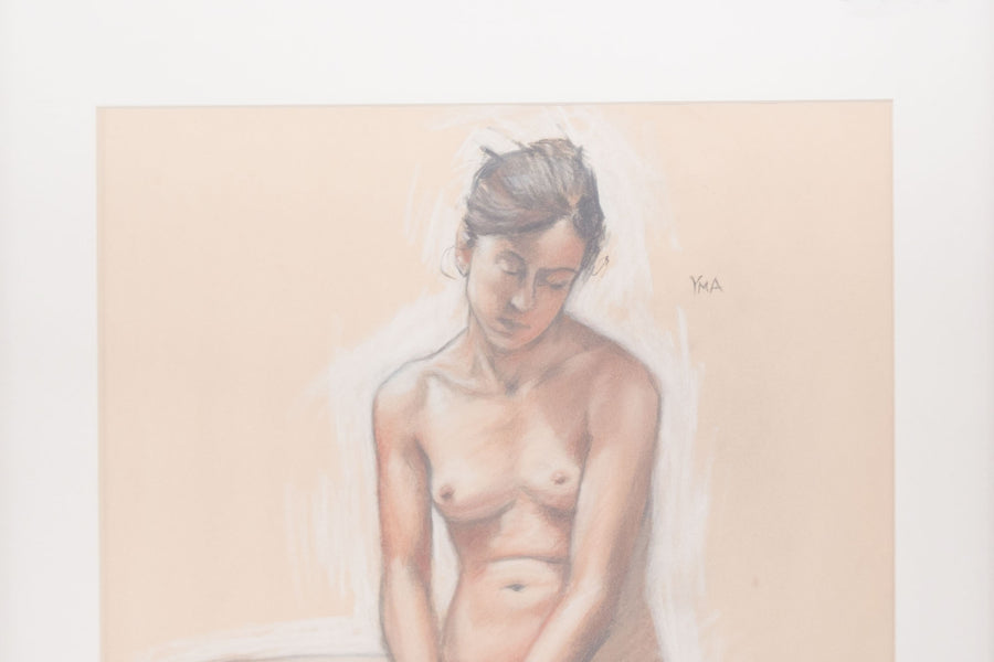 Signed Pastel Nude