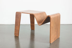 Bentwood Table with Magazine Rack