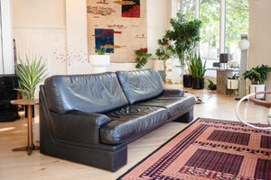 Mod 80s Leather Sofa