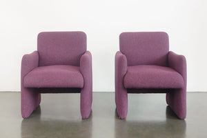 Pair of Mod Club Chairs