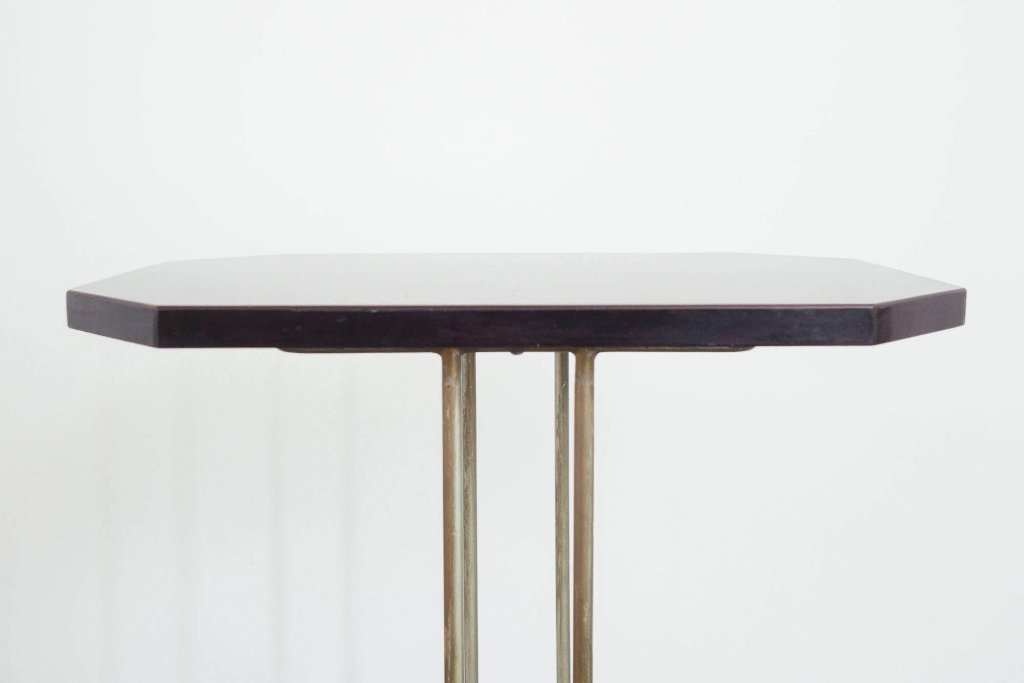 Brass and Lacquer Side Table