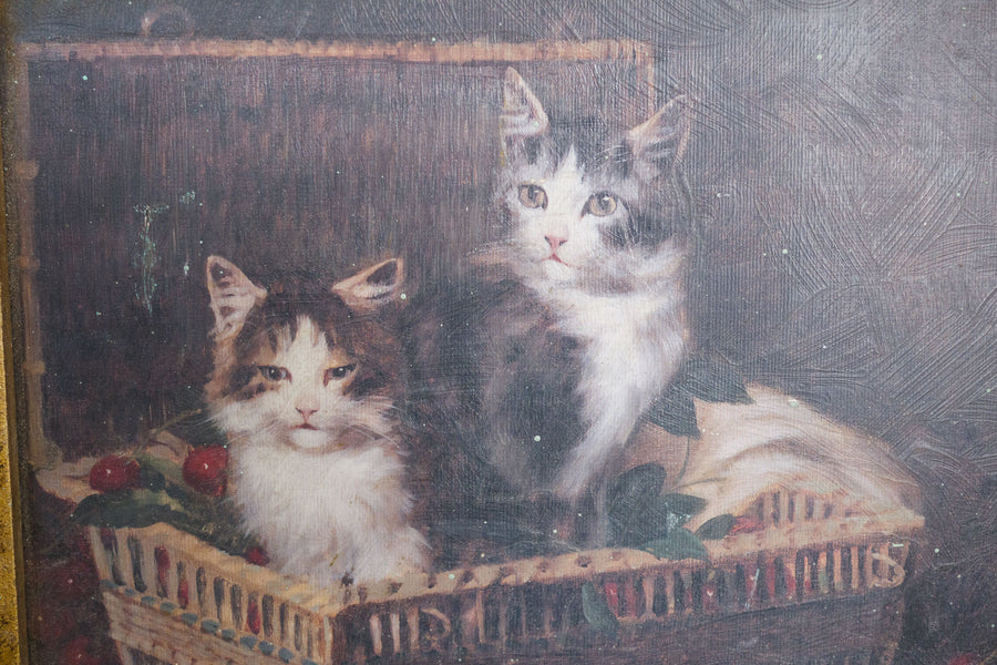 """Kittens in a Basket"" by LeRoy"
