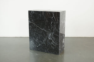 Wood Inlaid Marble Pedestal