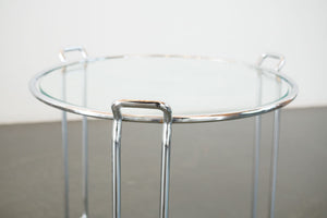 Pair of Chrome Side Tables
