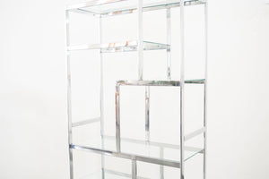 Milo Baughman Chrome Shelf