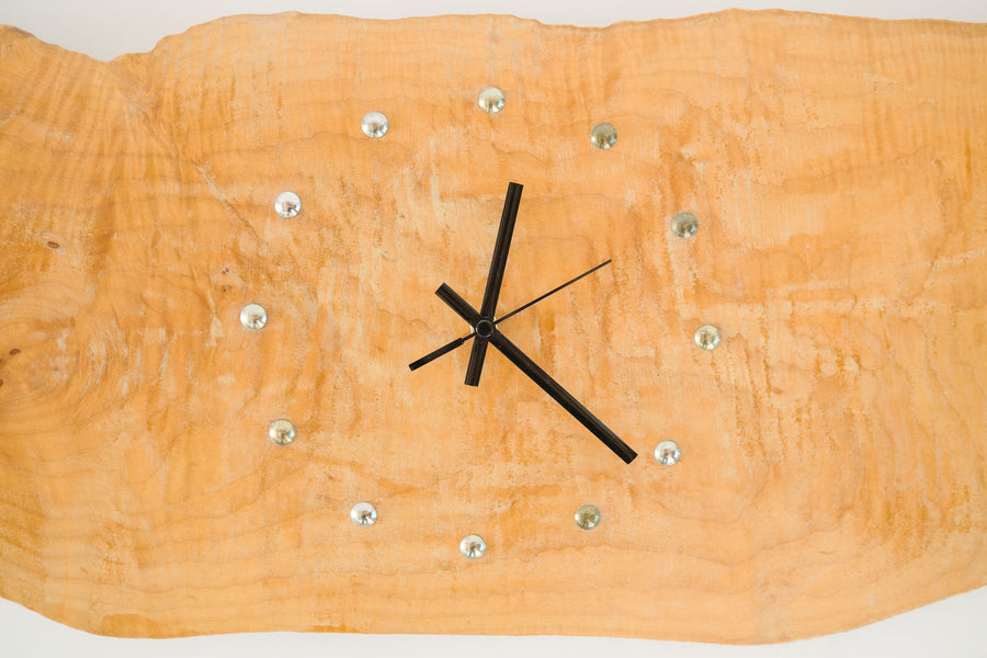 Live Edge Wall Clock