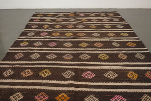 5.5x8 Turkish Kilim Rug | BENGIN