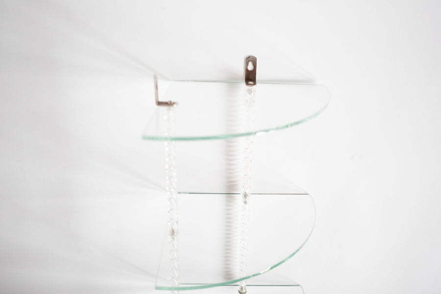 Glass Corner Shelf