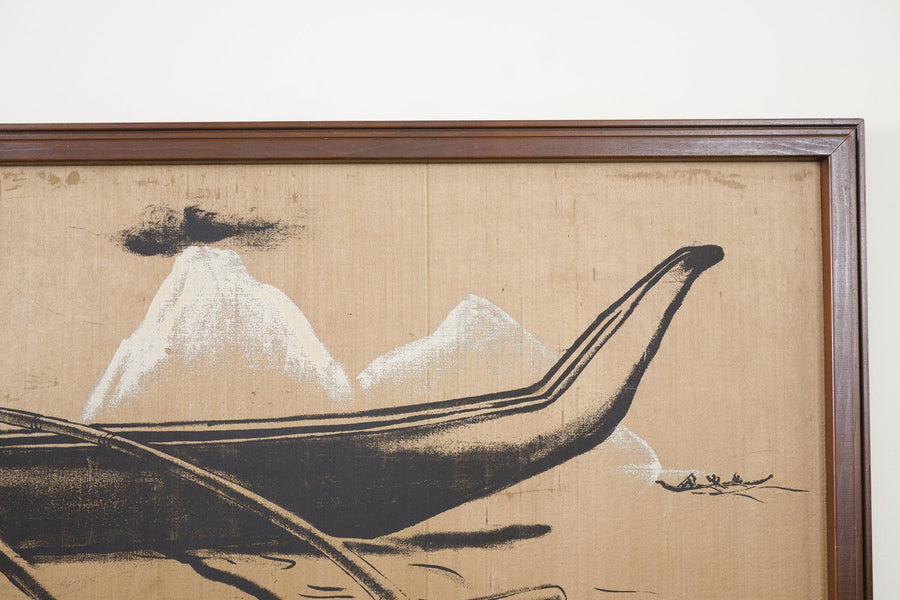 Silk Boat Painting