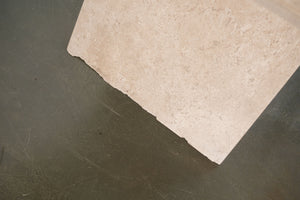 'X' Travertine Table