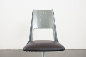 Daystrom Smoked Lucite Swivel Chair