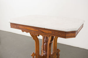 Marble-Topped Antique Table