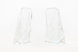 Diagonal Glass Bookends