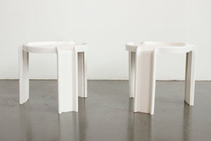 Syroco White Stacking Side Tables