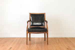 Leather Captain's Arm Chairs