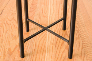 HS Collection Leather Stool