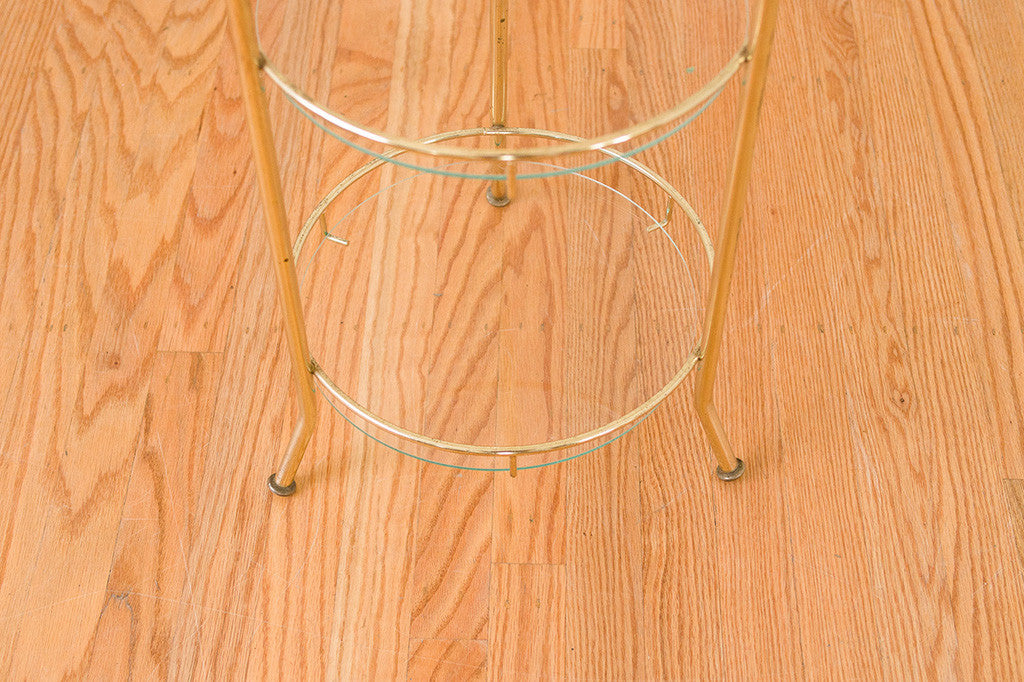 Tiered Brass Plant Stand