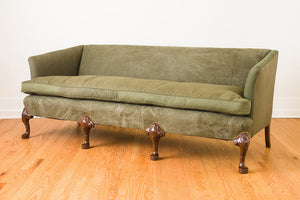 Military Canvas Clawfoot Sofa