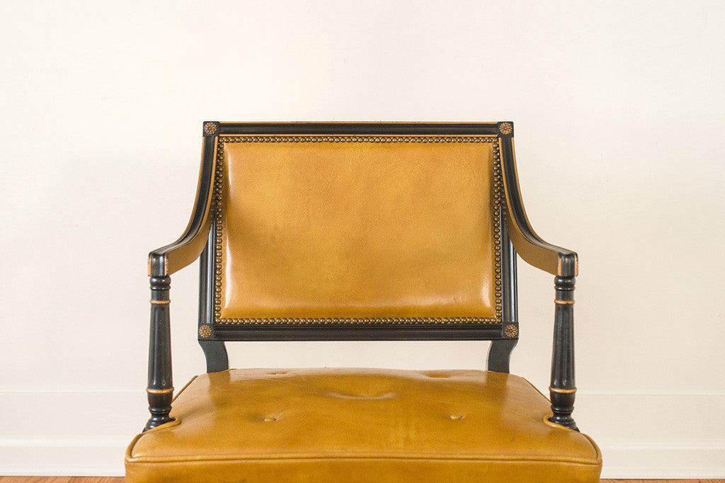 Regency Leather Chairs