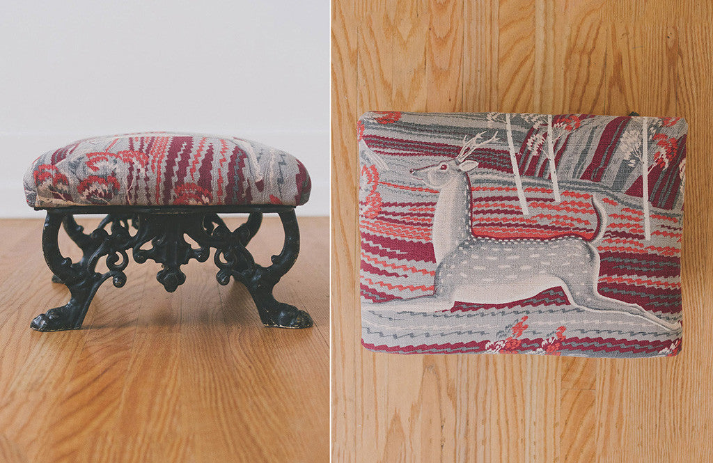 HS Collection Deer Footstool