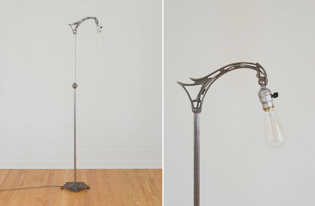 Art nouveau floor lamp homestead seattle art nouveau floor lamp aloadofball Choice Image