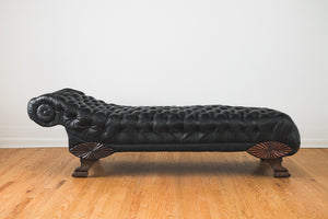 Leather Chesterfield Chaise
