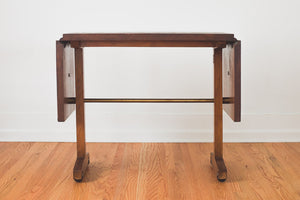Wood & Brass Serving Cart