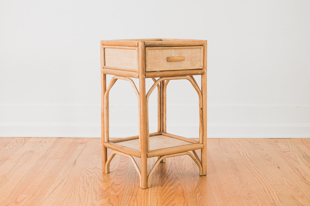 Rattan Side Table Homestead Seattle