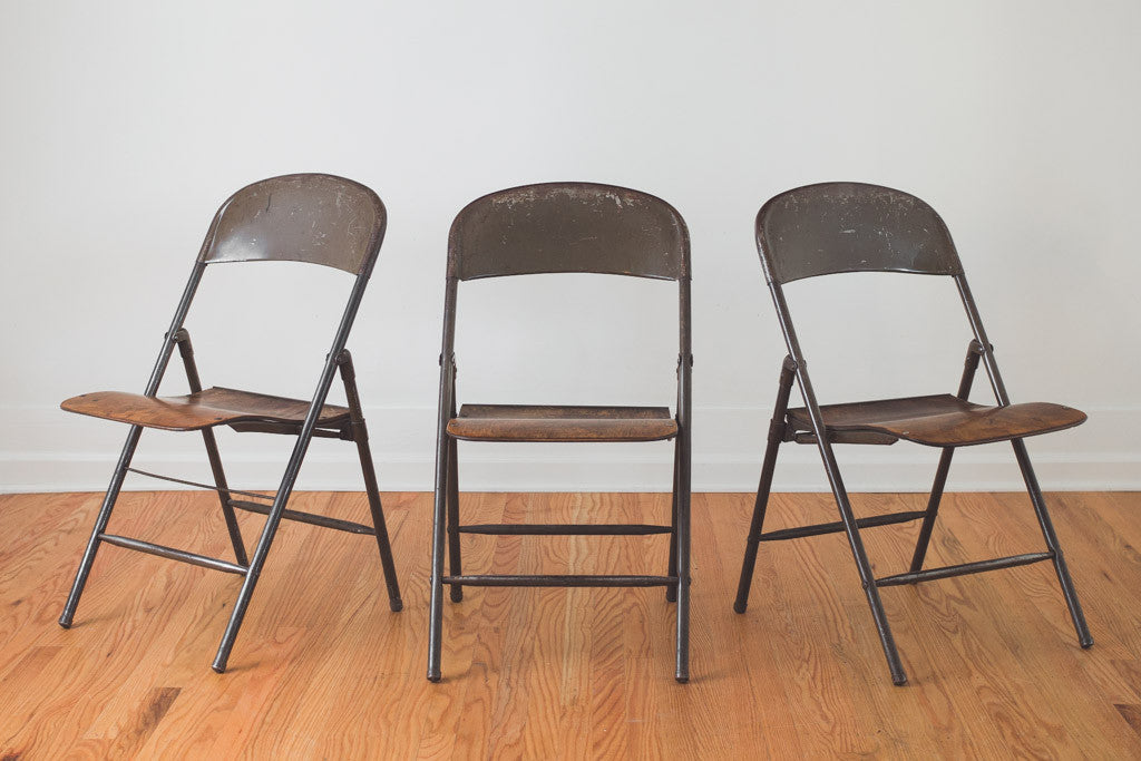 Antique Folding Chairs - Antique Folding Chairs - Homestead Seattle