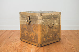 Brass Trunk Side Table
