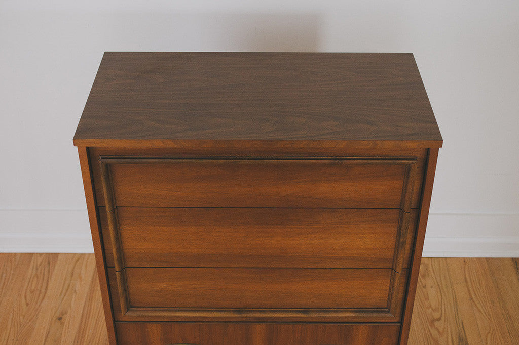 MCM Walnut Highboy Dresser