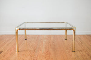 Metal & Glass Coffee Table